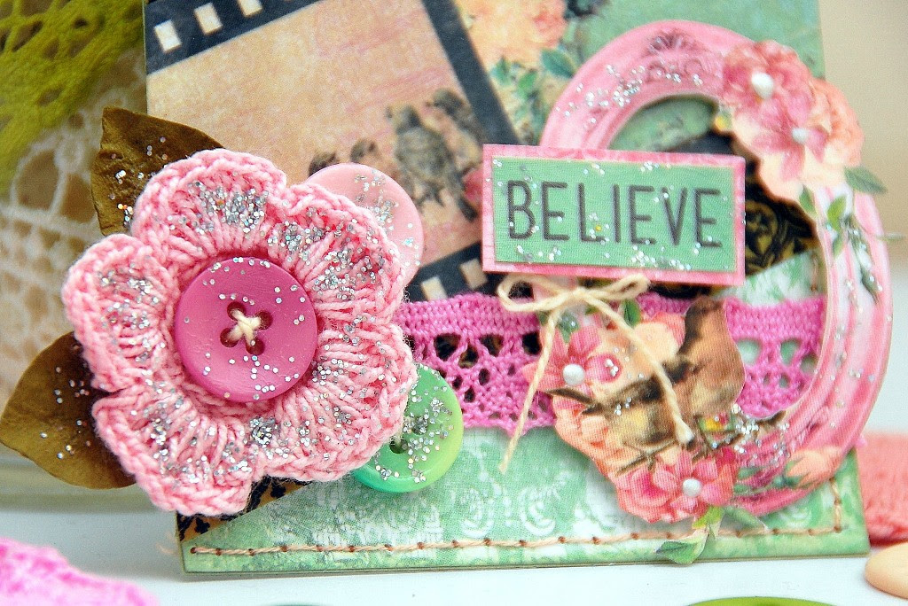 Believe Tag by Irene Tan using BoBunny Madeleine collection