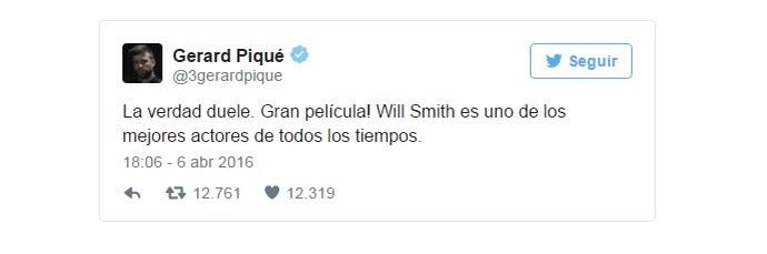 Tweet de Piqué ironiza derrota do Real Madrid para o Wolfsburg (Foto: Reprodução Twitter)