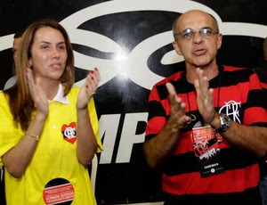 Partricia Amorim Eduardo Bandeira de Melo eleições Flamengo (Foto: Fernando Azevedo / FlaImagem)