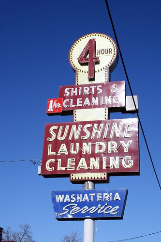 sunshine laundry neon sign