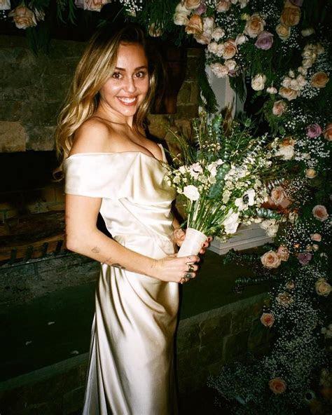 Miley Cyrus Wedding Dress   POPSUGAR Fashion