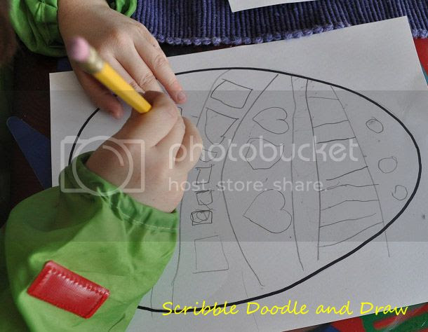 Draw and decorate Easter eggs using lines and patterns