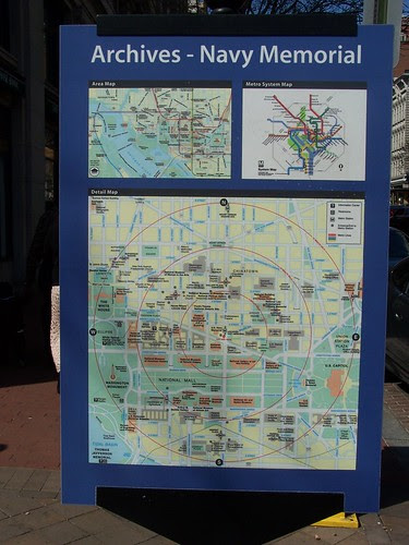 Wayfinding Sign, Archives - Navy Memorial Subway Map (outside)