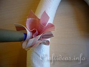 Fabric Heart Wreath Detail