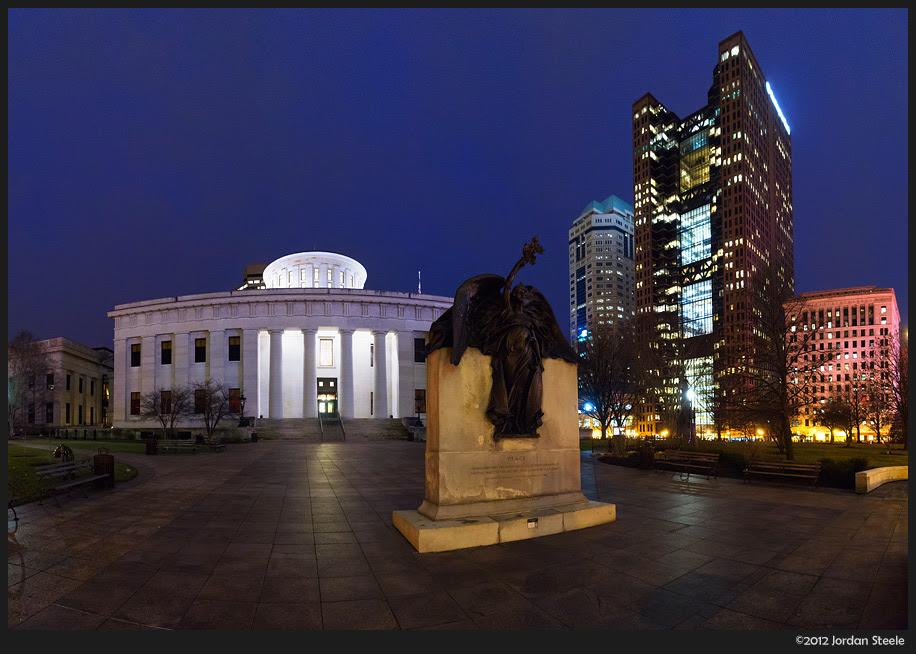 Jordan Steele Posts DMC-GX1 Shots of Columbus at Night