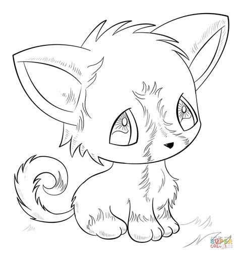 anime animals coloring pages   print