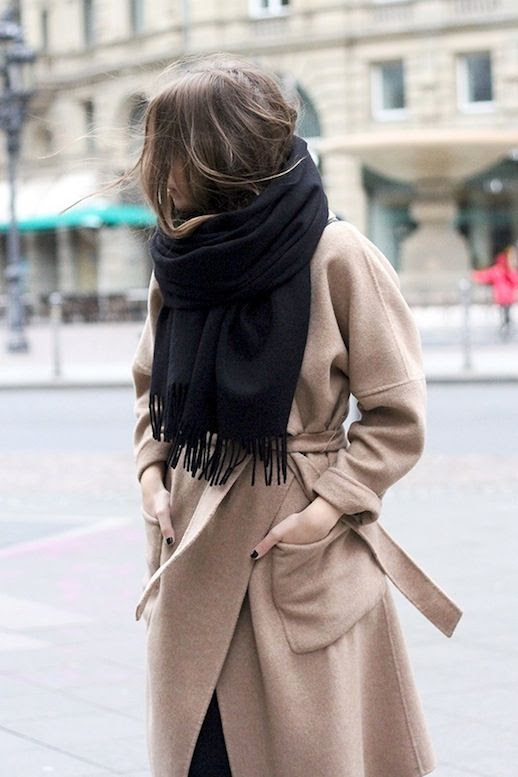 Le Fashion Blog Blogger Style Acne Studios Oversized Scarf Wrap Camel Coat Via Fashion And Style