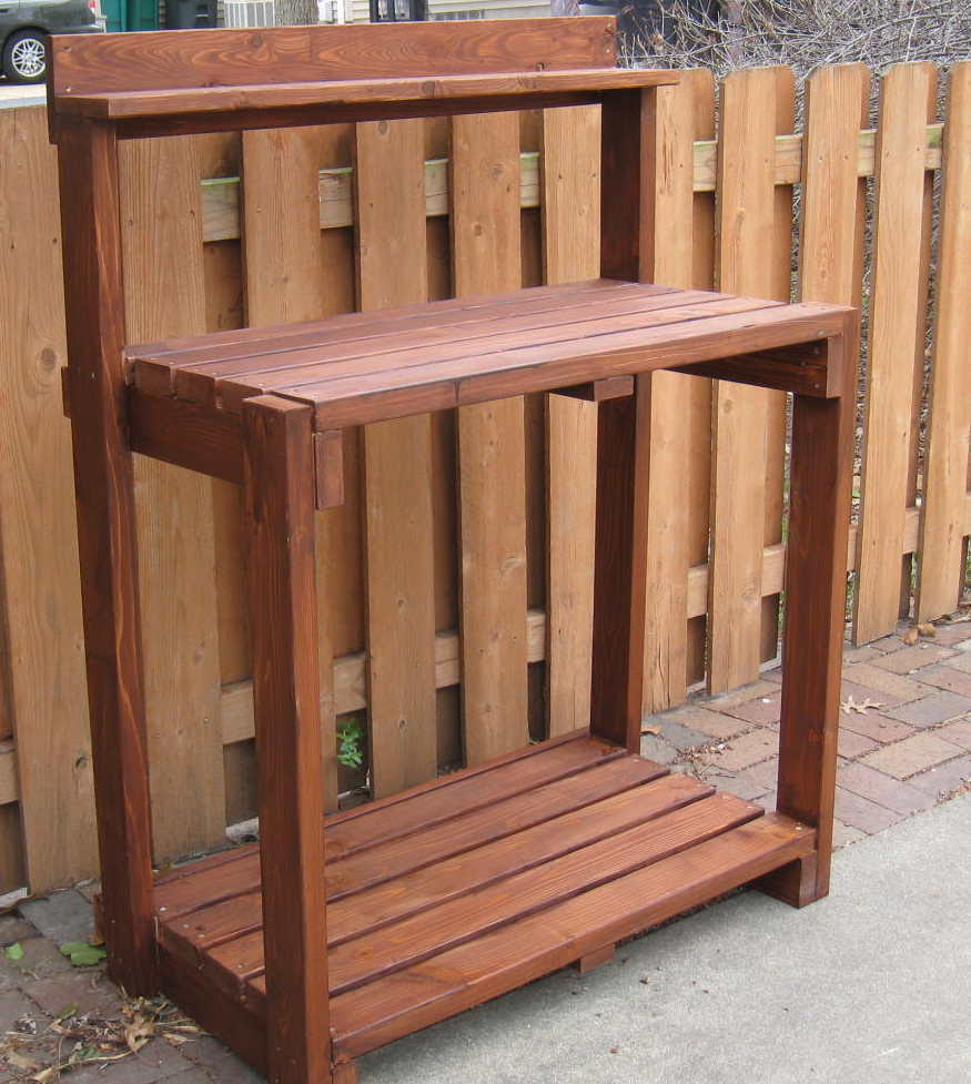 Work With Wood Project Here Wood Potting Potting Bench