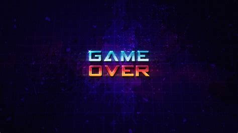 Wallpaper Game Over, HD, Creative Graphics, #8969