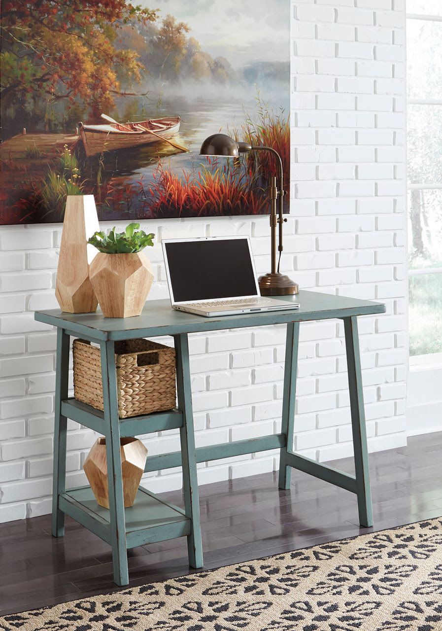 The Mirimyn Teal Home Office Small Desk Available At Furniture And