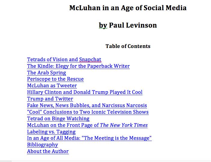 Paul Levinson's Infinite Regress: New New Media