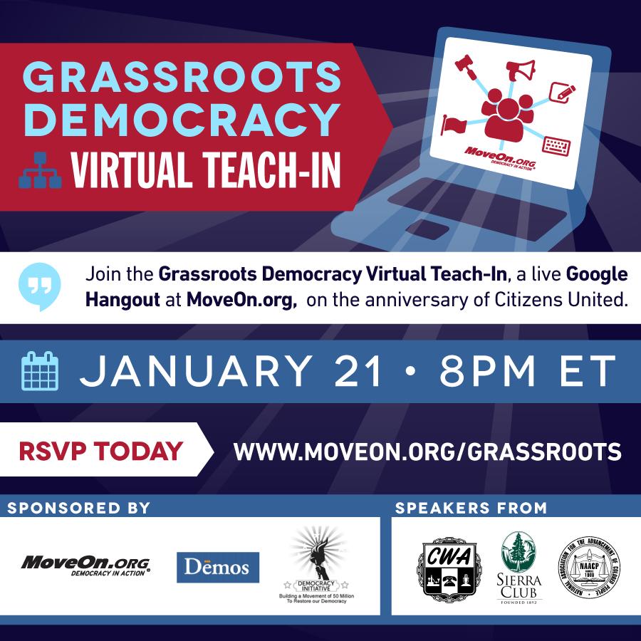 Grassroots Democracy Virtual Teach-in