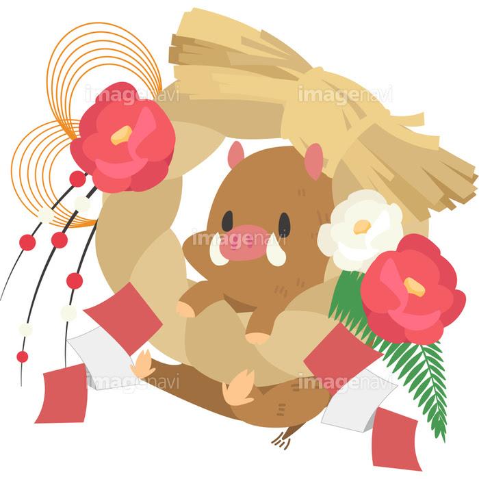 正月飾りと猪の画像素材31286479 イラスト素材ならイメージナビ