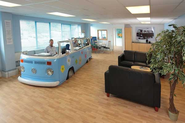 Vw-bus-into-office-space