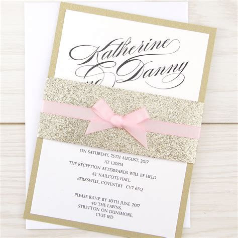 Oscar Parcel with Bow Wedding Invitation   Pure Invitation