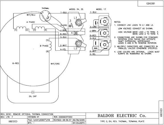 33 Baldor Motor Capacitor Wiring Diagram