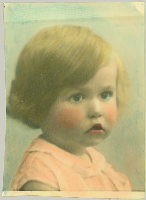 Child hand tinted