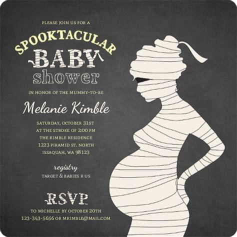 Chalkboard Mummy Silhouette Halloween Baby Shower