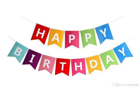 2019 Paper Bunting Garland Banners Flags Happy Birthday