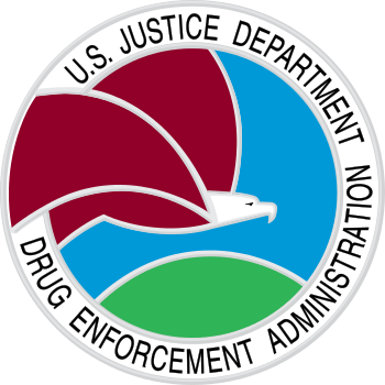 English: The seal of the United States Drug En...