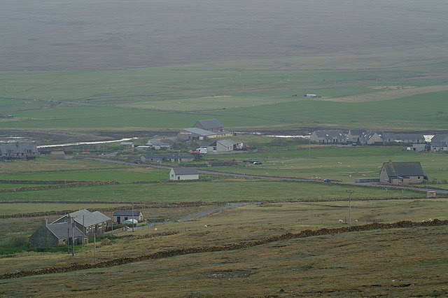 File:Baltasound from Nikka Vord aka 'I can see my house from here' - geograph.org.uk - 1275181.jpg