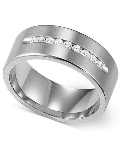 Triton Men's Channel Set Diamond Wedding Band in Cobalt (1