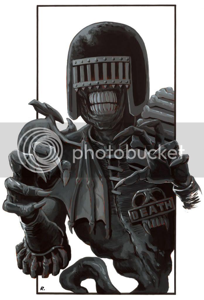 Judge Death,2000AD,Graeme Neil Reid,Sci-fi,Painting,Comic
