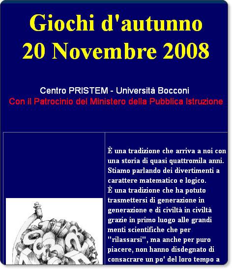 http://matematica.unibocconi.it/giochiautunno2008/giochiautunno2008.htm