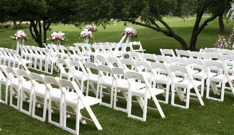 White Resin Folding Chairs, Padded Discount Prices Resin