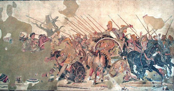 Το Μωσαϊκό Αλέξανδρος  στο Μουσείο της Νάπολης