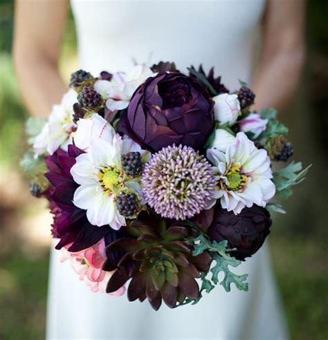 AMAZING Lilac Plum Wedding Silk Succulent, Peonies
