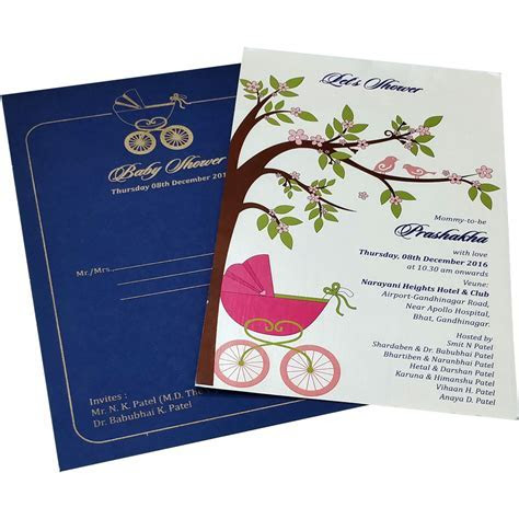 BS 05   Baby Shower Invitations Cards Metro The Best