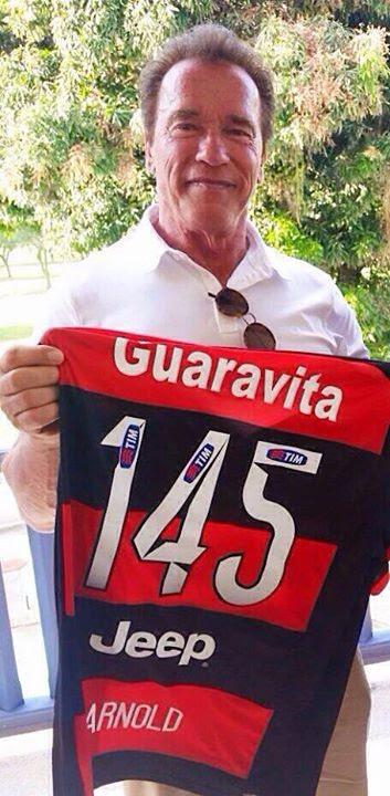 Arnold Schwarzenegger camisa Flamengo