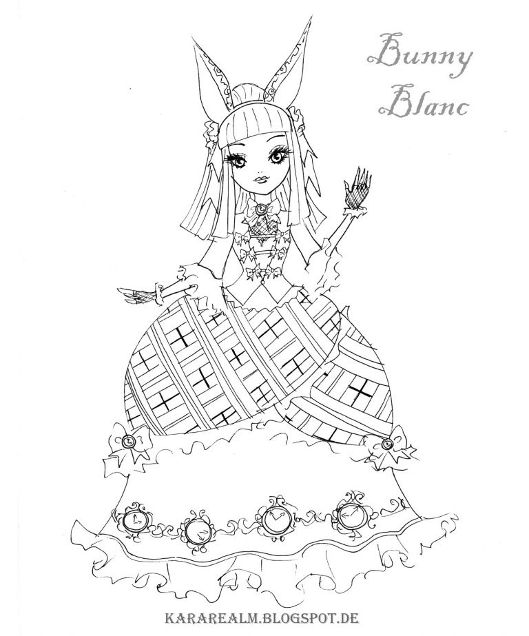 Cool Ever After High Dragon Coloring Pages