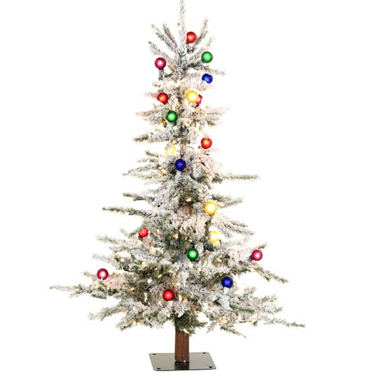 Shelley B Decor And More: 4 Ft Flocked Slim Christmas Tree