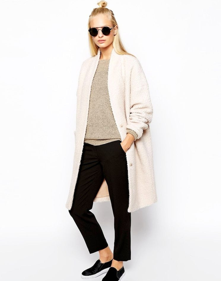 Le Fashion Blog -- Half-Up Top Knot, Textured Selected Kayla Coat, Round Sunglasses, Cropped Pants & Calf Hair Slip On Sneakers -- photo Le-Fashion-Blog-Half-Up-Top-Knot-Textured-Selected-Kayla-Coat-Round-Sunglasses-Cropped-Pants-Calf-Hair-Slip-On-Sneakers.jpg
