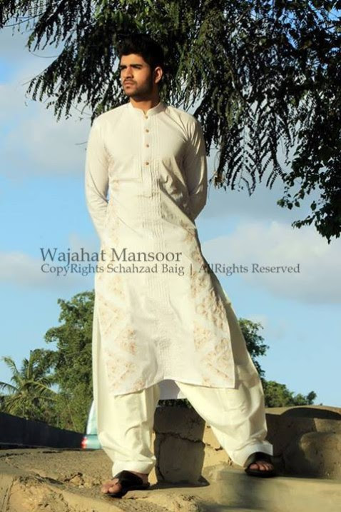 Wajahat-Mansoor-Latest-Summer-Eid-Kurta-Pajama-Salwar-Kameez-Collection-2013-Mens-Boys-12