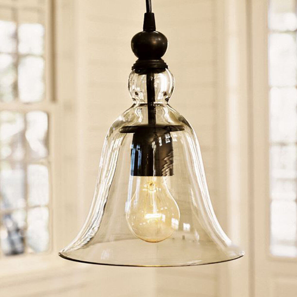 Glass Pendant Light Kitchen Light Dining room pendant light Home Decor E27  eBay