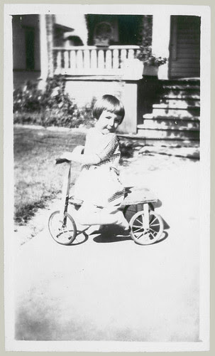 Child and Tricycle