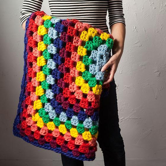 Tuff Granny Throw - Free Crochet Pattern