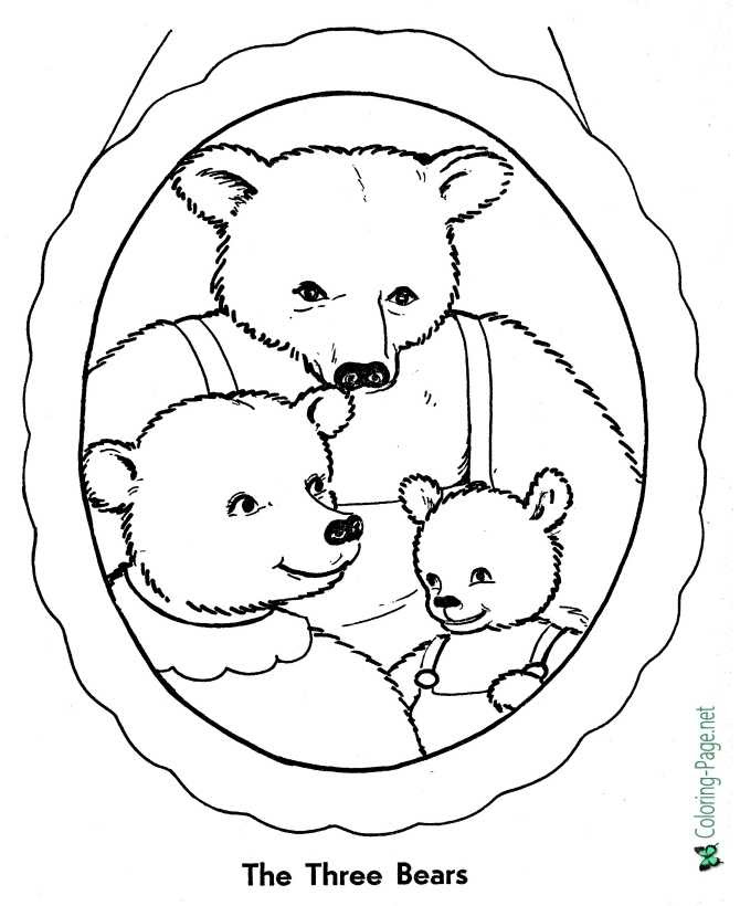 42 Free Printable Coloring Pages Goldilocks Three Bears Best HD