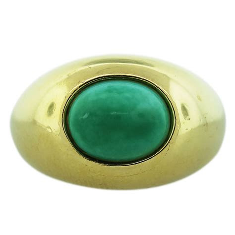 yellow gold turquoise cabochon mens ring boca raton
