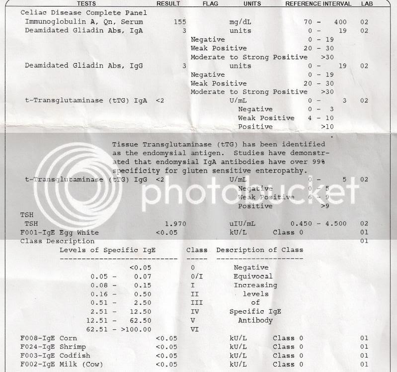 Can Anyone Help Me Read My Celiac Panel Results? - Celiac ...