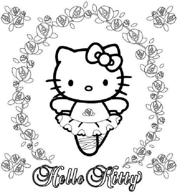 Coloriage Hello Kitty 6 Momesnet