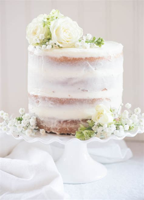 Naked Orange Cake with Almond Buttercream Frosting {Great
