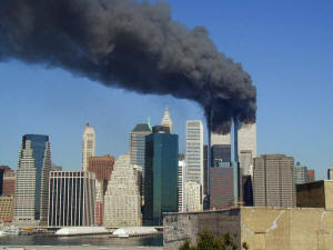 Twin Towers on 9/11/2001