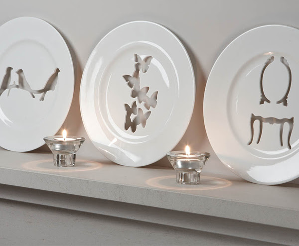 Decorative Silhouette Wall Plates | InteriorHolic.