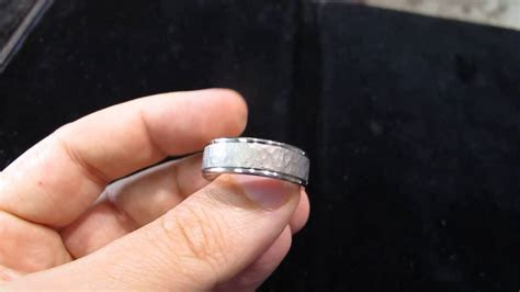 hammered platinum mens wedding band  los angeles youtube