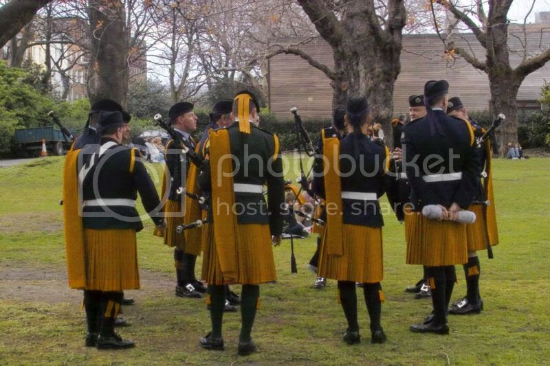 Men in skirts, yesterday
