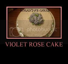 Butter Cream Rose - Violet Rose Cake